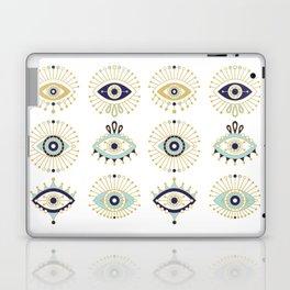 Evil Eye Collection on White Laptop & iPad Skin