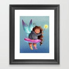the lazy fairy godmother Framed Art Print