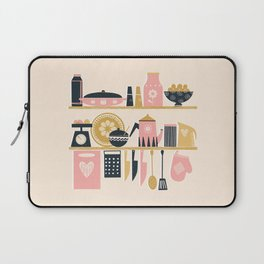 Colorful Cooking In A Mid Century Scandinavian Kitchen Laptop Sleeve