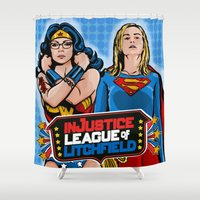 justice Shower Curtains featuring Justice  by Vague