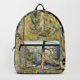 Akseli Gallen-Kallela - Great Black Woodpecker - Digital Remastered Edition Backpack