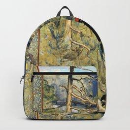 Akseli Gallen-Kallela - Great Black Woodpecker - Digital Remastered Edition Backpack