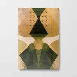 The Japanese Princess - Gold Abstract Metallic Geometry Metal Print