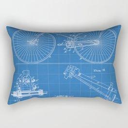 Cycling Patent - Bicycle Art - Blueprint Rectangular Pillow