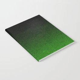 Green & Black Glitter Gradient Notebook