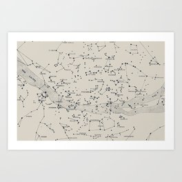 Carte du Ciel II Art Print