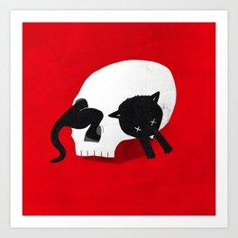 CURIOSITY KILLED THE CAT Art Print