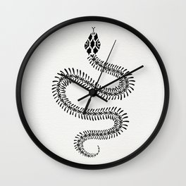 Snake Skeleton – Black Ink Wall Clock