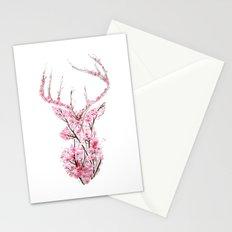 Cherry Blossom Deer Stationery Cards