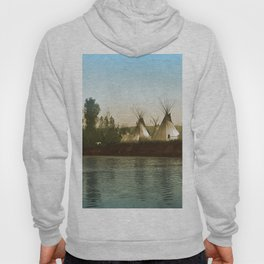 Crow Indian Camp on the Rivers Edge Hoody