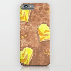 Yellow and brown hearts pattern iPhone 6s Slim Case