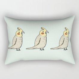 Happy Cockatiel Rectangular Pillow