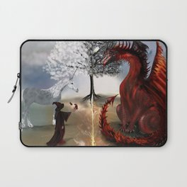 The Owl,Wizard,Unicorn and the Dragon Laptop Sleeve