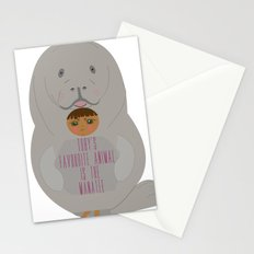 Toby as Manatee Stationery Cards