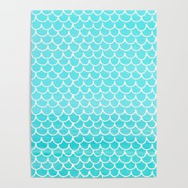 Let´s be mermaids- Aqua Mermaidscales - into the Sea Poster