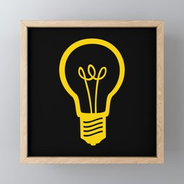 Yellow Lightbulb Framed Mini Art Print