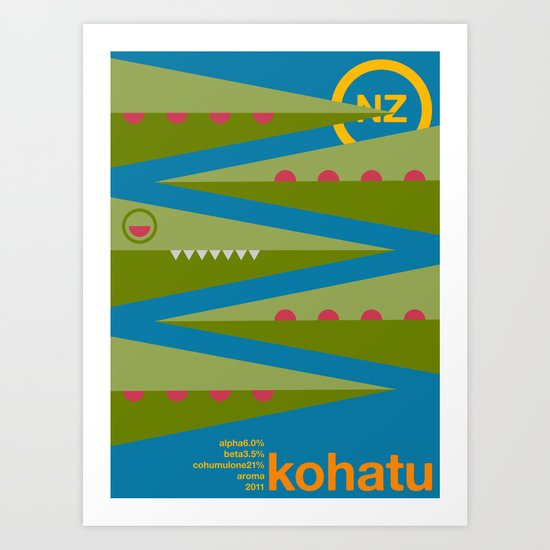kohatu single hop Art Print