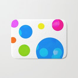 Colorful Bold Bubble Design Badematte
