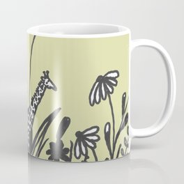Flowers and Giraffe Coffee Mug