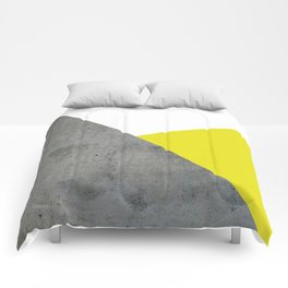 Concrete vs Corn Yellow Comforters