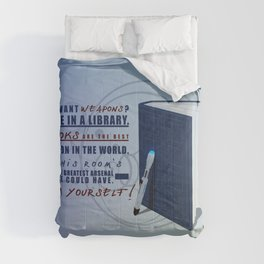 Books are the best weapon in the world Comforters