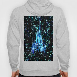 Enchanted Fairy Tale Castle Sparkle Blue Teal Hoody