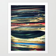 put your records on Art Print