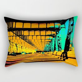 Bay Bridge Evening Pixelart Rectangular Pillow