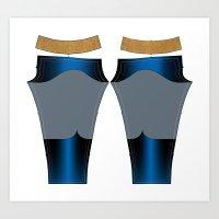 Superhero Leggings - Male Art Print