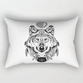 Bohemian Celestial Wolf Rectangular Pillow