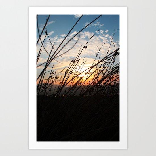 Sunset at the Lakes. Art Print