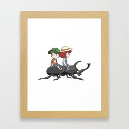 Beetle ride Framed Art Print