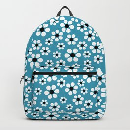 Dizzy Daisies - teal - more colors Backpack
