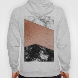 Rose Gold foil and marble Hoody