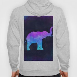 ELEPHANT IN SPACE // Animal Graphic Art // Watercolor Canvas Painting // Modern Minimal Cute Hoody