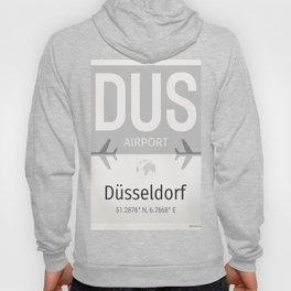 DUS Dusseldorf airport grey Hoody