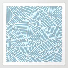 Ab Lines Sky Blue Art Print