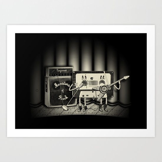 Conjoined Monsters of Rock Art Print