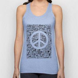 Peace Doodle Unisex Tank Top