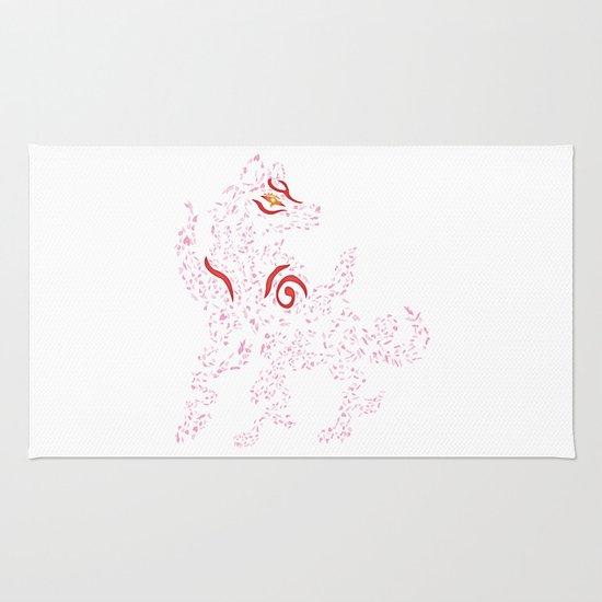 Okami Amaterasu - Cherry Blossom Form [WHITE] Rug
