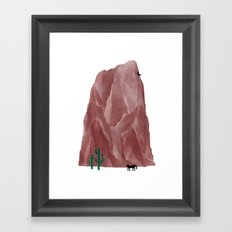 The Living Rock Framed Art Print