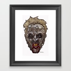Heads of the Living Dead Zombies: Mean Mouth Zombie Framed Art Print