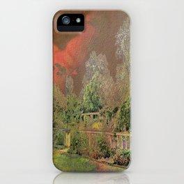 English Garden Sunset iPhone Case