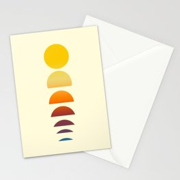 retro sunrise Stationery Cards