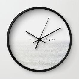 Sailboats regatta seascape Wall Clock