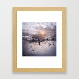 Lone Tree Love II Framed Art Print