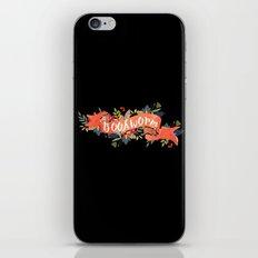 Bookworm (Black) iPhone & iPod Skin
