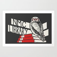 NMC Library Hawk Owl Art Print