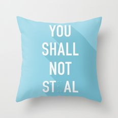 The Eighth Commandment Throw Pillow