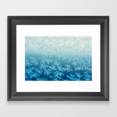 blue ombre frost Framed Art Print